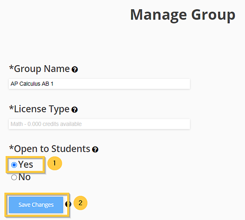 Click Yes Manage User Group