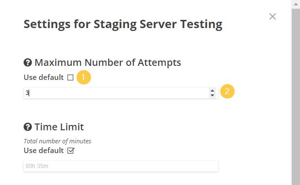 Edit Test Settings pt 2