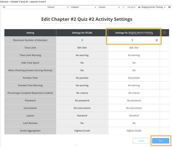 Edit Test Settings pt 4